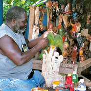 Jamaican Wood Carving from Port Antonio artist, Rockbottom