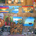Artwork at Jacob Taylor Beach, Falmouth, Jamaica